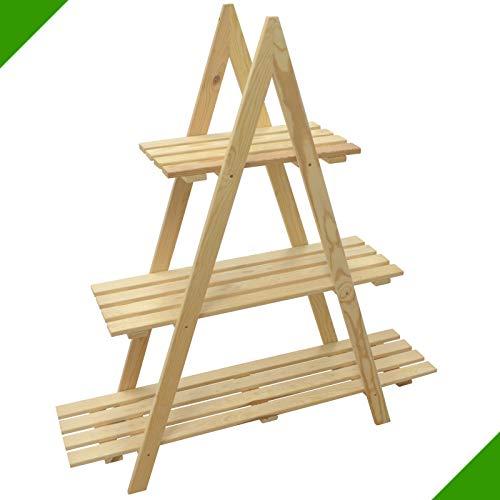 De Flores Pirámide Pirámide florero madera Estantería