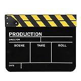 Film Clapperboard Yellow White, para producción de video, para Movie Lover(Yellow bar blackboard)