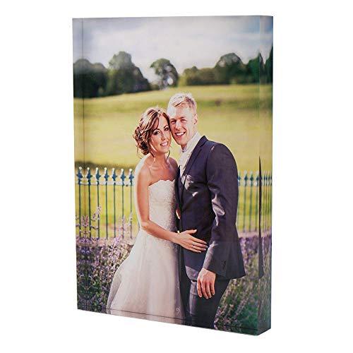 Stika.co - Blocco per foto in acrilico, con spessore di 2 cm, ideale per compleanni, A5 Photo Block (6x8')