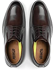 [Poerkan] ビジネスシューズ メンズ Uチップ 防水高級レザー 革靴 スワールモカ 紳士靴 外羽根 プレーントゥ ドレスシューズ 24.5cm~30.0cm