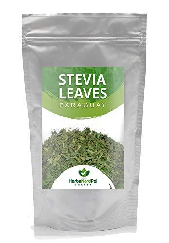 HerbaNordPool Hojas de Stevia, té suelto de Paraguay, 2-3 cm bien tamizadas, 400 g