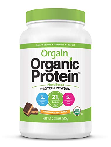 Orgain Organic Plant Based Protein Powder Chocolate Peanut Butter  Vegan Low Net Carbs Non Dairy Gluten Free Lactose Free No Sugar Added Soy Free Kosher 203 Pound Packaging May Vary