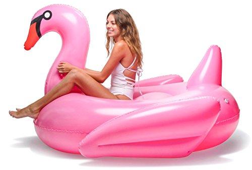 Floatie Kings Pink Swan Party Pool Float - Original Giant Premium Inflatable