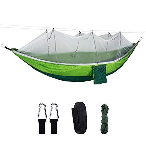 AIWKR Hamac d'extérieur avec moustiquaire, double (260 × 140 cm) hamacs de camping portable et léger pour randonnée, randonnée, voyage, capacité de charge 200 kg o