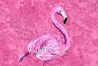 Caroline's Treasures 8875PLMT Flamingo on Pink Fabric Placemat, Large, Multicolor