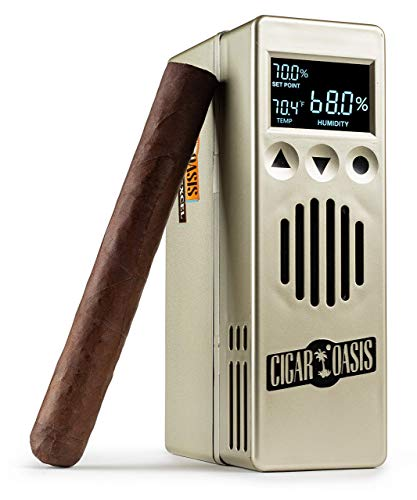 Cigar Oasis Excel 3.0 Electronic Humidifier for 1-4 Cubic Ft. Humidors (100-300 Cigars) The Original Set It and Forget It Humidification Solution for Any Style Cigar Humidor Or Cigar Cooler