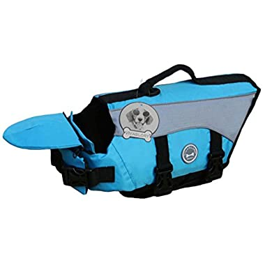 Vivaglory Dog Life Jackets with Extra Padding for Dogs, Large - Blue