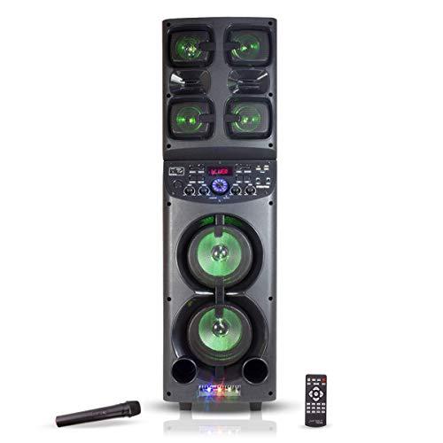 Steelpro Bocina de Torre Recargable con Microfono Inalambrico, Bluetooth, TWS JF1040