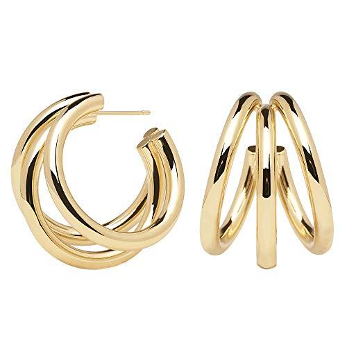 P D PAOLA - True - Goldohrringe - 18k Goldplattierung - Damenschmuck - Ohrringe Damen