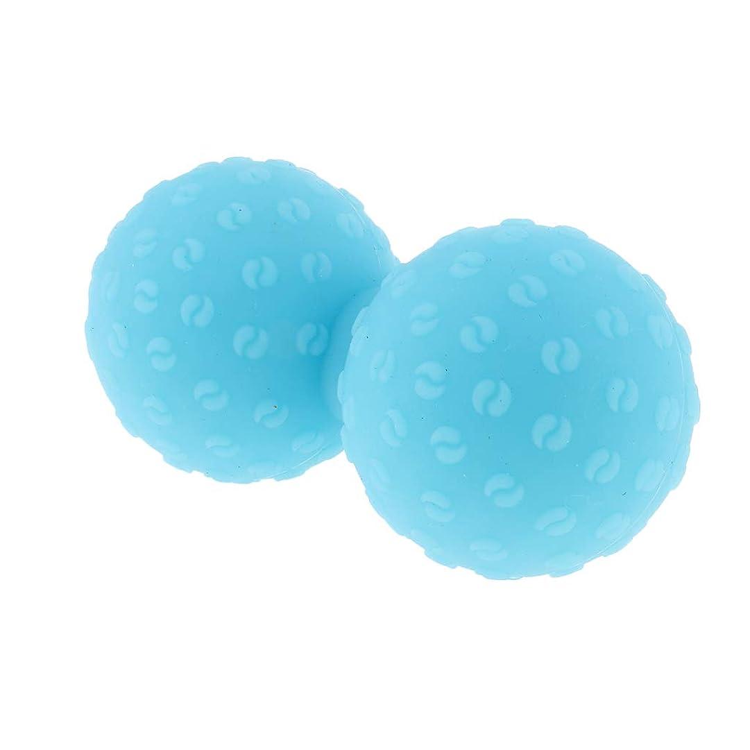 却下するジュラシックパーク本体Fenteer シリコンマッサージボール 指圧ボール ピーナッツ トリガーポイント ツボ押しグッズ ヨガ 全6色 - 青, 説明のとおり