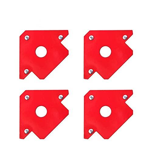 Conexión fija 4pcs 25lbs Soporte de soldadura magnética Multi ángulos 45 ° 90 ° 135 ° Localizador de soldadura Herramienta Soldador Posicionador Posicionador de soldadura (Color : Red)