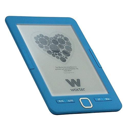 """Woxter Scriba 195 Paperlight Blue Lector de libros electrónicos de 6"""" (1024 x 758, e-ink pearl, pantalla RETROILUMINADA, EPUB, PDF, micro SD, guarda más de 4000 libros, textura engomada) color azul"""