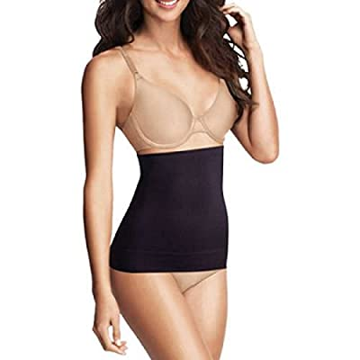 Flexees by Maidenform Seamless Shapewear Waist Cincher (Large, Black)