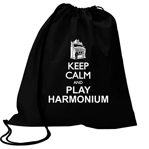 Idakoos Keep Calm and Play Harmonium - Silhouette Sport Bag