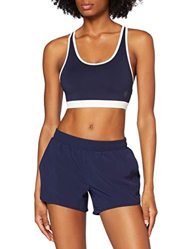 Amazon-Marke: AURIQUE Damen Laufshorts, Blau (Marineblau/Weiß), 42, Label:XL