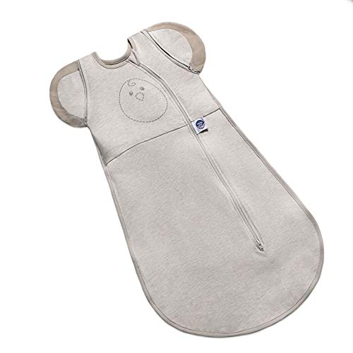 Nested Bean Zen One - Gently Weighted Swaddle | Baby: 0-3 Months | Arms Free/in/Out Swaddle | Helps to Reduce Moro (Startle) Reflex | Unisex | TOG 1.0 | Machine Washable