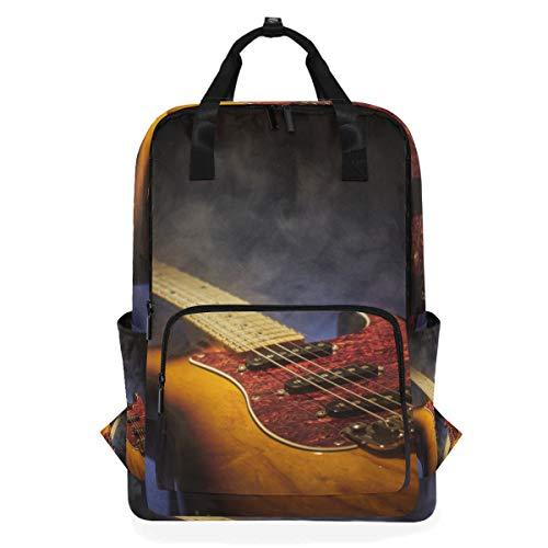 ZOMOY Mochilas,Instrumentos Musicales Guitarra Eléctrica en Forma Clásica,Nuevo portátil Informal Ligero Mochila...