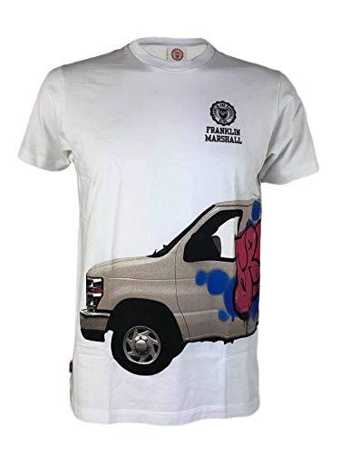 Franklin Marshall - Camiseta para hombre, talla XS, S, L, A9/28, color blanco Bianco XS