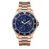 Ice-Watch - ICE steel Blue cosmos rose-gold - Montre rose-gold pour femme avec bracelet en metal -...