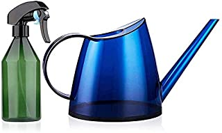 KU Syang Long Spout Watering Can Indoor,Small Watering Cans for House Plants,Flowers,Succulents 40Oz,and Plant (Blue)