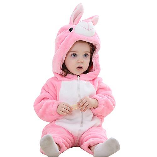 Happy Cherry - baby rompertje winter kostuum dier Halloween party Kerstmis babyspelanyug jongen meisje 19-24 Monate konijntje