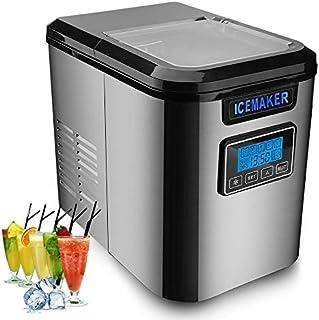 Hengda Machine à glaçons 150W en acier inoxydable Machine à glaçons avec cuillère à glace 3 tailles de glaçons Fonction au...