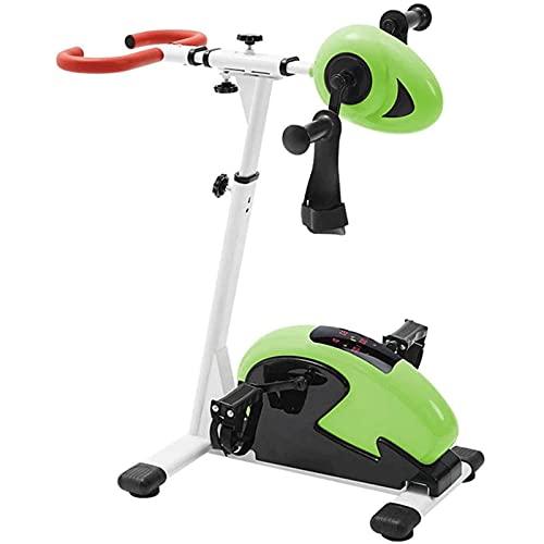 ZBQLKM Entrenador de extremidades superiores e inferiores, ejercicios de pedal eléctrico, bicicleta de ejercicios de pedal con 12 niveles de resistencia ajustable & HD Exhibición de pantalla grande, f
