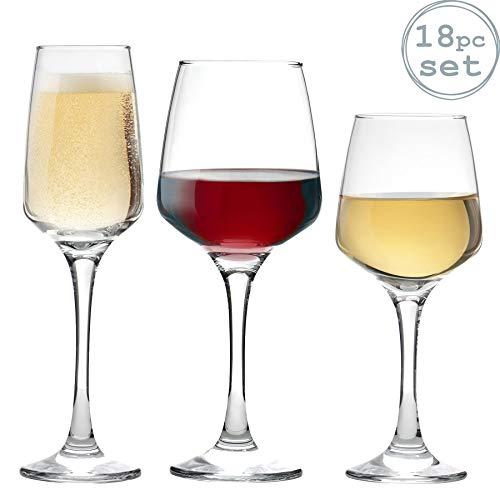 Argon Tableware Verres à vin Blanc, à vin Rouge et à...