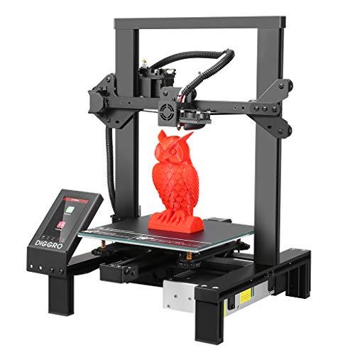 DIGGRO Stampante 3D con touchscreen da 4,3 pollici 220x220x250mm, alta precisione per il rilevamento di filamenti di grande volume