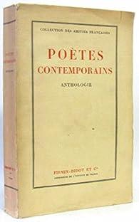 Poetes contemporains, anthologie par Gérard Walch