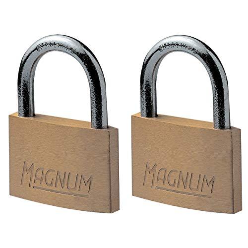Master Lock CAD40T Pack de 2 Cadenas Magnum en Laiton Massif et à Clé