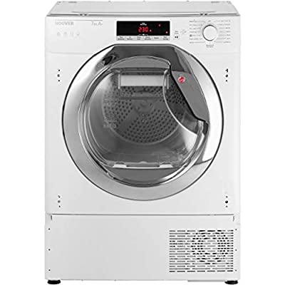 Hoover HTDBWH7A1TCE Integrated Wifi Connected 7Kg Heat Pump Tumble Dryer - White / Chrome