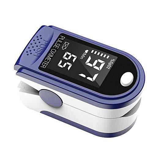 negaor Tragbares Fingerspitzenoximeter L-ED-Display Blutsauerstoff-Pulsfrequenzmesser für Familienreisen (blau)