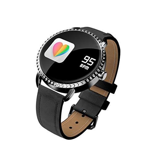 LQIAN Smart Watch H7, runde wasserdichte IP67-Smartwatch mit Touchscreen Kompatibel mit Frauen, Fitness-Tracker mit atmungsaktivem Herzfrequenz- und Schlafpedometer, Armband Kompatibel mit iOS/Android