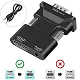 VGA to HDMI Adapter/Converter,FDG 1080P HDMI Female to VGA Male Converter Adapter 3.5mm Audio Cable