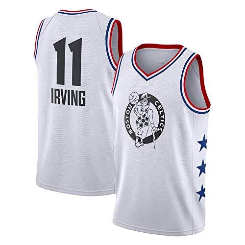 GUYUE Hombres Jersey - NBA Celtics # 11 Irving Bordado de Malla de Baloncesto Swingman Jersey (Color : B, Size : XL)