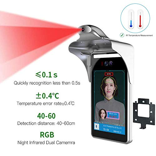 Great Deal! Rong– Non-Contact Infrared Thermometer Face Recognition System Temperature Measurement for Entrance and Exit of Office Building, Mall, Supermarket, Station, School