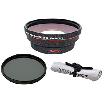 High Definition Panasonic Lumix DC-GH5 HD 0.5X Wide Angle Lens with Macro 82mm Circular Polarizing Filter Rings 37, 46, 52, 58, 62 /& 67 Nw Cloth +