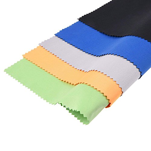 Panni per pulire in Microfibra - 5 Panni Colorati XL adatti per pulire Occhiali, Lenti, Telecamere, iPad, iPhone, Tablet, Cellulari, Schermi LCD, Oggetti in Argento ed altre superfici delicate