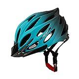 RUIKODOM Casco Bicicleta con Visera, Protección de Seguridad Ajustable Deporte Ligera para Montar en Bicicleta Casco de Bicicleta BMX Scooter Skate Mountain Road Hombres Mujeres Adulto (Azul)