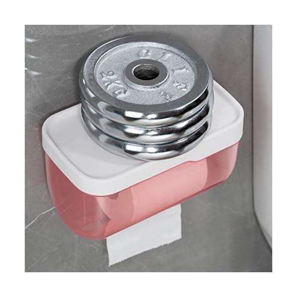 MeiLiu Porta Rollos de Papel higiénico Sin Perforaciones Portapapel higiénico