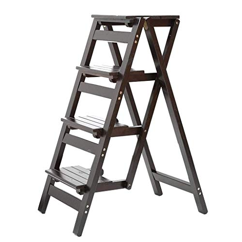Vier stappen Planken Ladders, Slaapkamer Bookshelf kleding winkel Ladder Coffee Shop Dual-purpose Ladder Kruk Volledig geïsoleerd Veiligheid Trappen / 4 kleuren (Kleur: Zwart, Maat: 42 * 67 * 92cm) XI