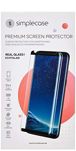 Simplecase Panzerglas passend zu HTC U Ultra , Premium Displayschutz , Schutz durch Extra Härtegrad 9H , Case Friendly , Echtglas / Verbundglas / Panzerglasfolie , Transparent - 2 Stück