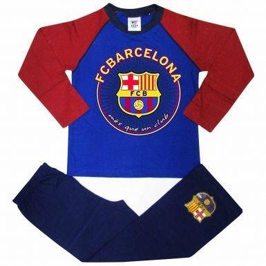 Pijama oficial del FC Barcelona Crest para niños (100% algodón)