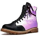 Bennigiry Coconut Horizon Burning Skies Botas de Invierno Zapatos clásicos de Lona de caña Alta para Mujer