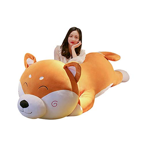 WBL Large Plush Toy Shiba Inu Doll Cute Dog Stuffed Animals Sleeping Pillow Children's Birthday Gifts (Color : A, Height : 1 M)