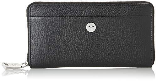 Joop Women Damen Geldbeutel Chiara Yura Brieftasche aus Leder, Schwarz (Black), 1x10x19 cm (W x H x L)