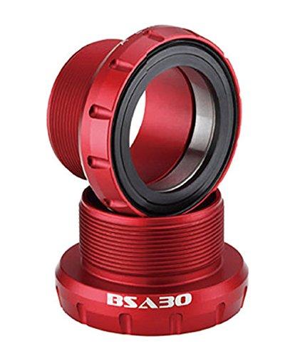 Aerozine BSA30 Boîtier de pédalier Mixte Adulte, Rouge