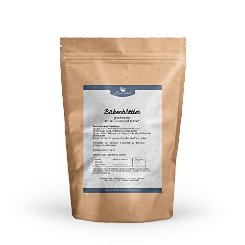 Krauterie Birken-Blätter in hochwertiger Qualität, frei von jeglichen Zusätzen, als Tee oder für Pferde und Hunde (Betula pendula) – 250 g
