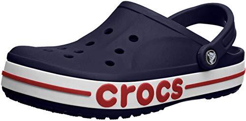 Crocs Damen Bayaband Clog, Marineblau/Pfeffer, 46/47 EU